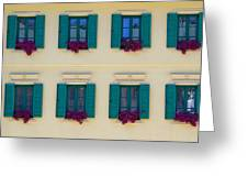 Colorful Building Greeting Card by David Buffington