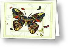 Colorful Butterfly Collage Greeting Card