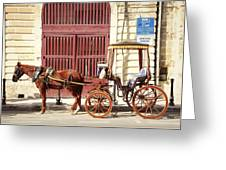 Colorful Cabs Of Malta Greeting Card