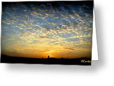 Colorful California Sunset Greeting Card