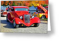 Colorful Car Show Greeting Card