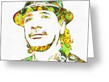 Colorful Carlos Santana Greeting Card
