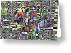 Colorful Chaotic Composite Greeting Card