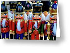 Colorful Christmas Nutcrackers Greeting Card
