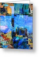 Colorful City Collage Greeting Card