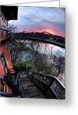 Colorful Cleveland Greeting Card by Joshua Ball