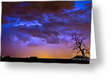 Colorful Cloud To Cloud Lightning Greeting Card