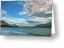 Colorful Clouds At Golden Hour On Lake Wakatipu At Glenorchy, Nz  Greeting Card