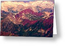 Colorful Colorado Rocky Mountains Greeting Card