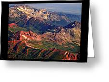 Colorful Colorado Rocky Mountains Planet Art Poster  Greeting Card