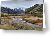 Colorful Colorado Valley Greeting Card