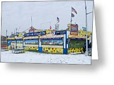 Colorful Coney Island Stand Greeting Card by Andrew Kazmierski