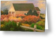 Colorful Cottage Cape Cod Greeting Card