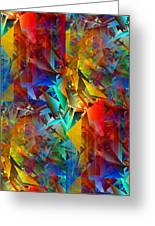Colorful Crash 11 Greeting Card