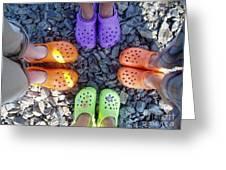 Colorful Crocs Greeting Card