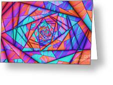 Colorful Cuts Fractal Greeting Card