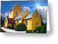 Colorful Danish Church Greeting Card