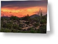 Colorful Desert Skies At Sunset  Greeting Card