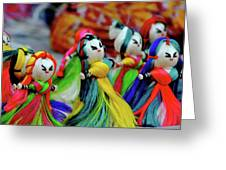 Colorful Dolls Greeting Card