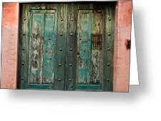 Colorful Doors Antigua Guatemala Greeting Card