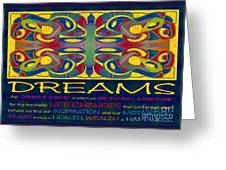 Colorful Dreams Motivational Artwork By Omashte Greeting Card