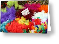 Colorful Easter Feathers Greeting Card