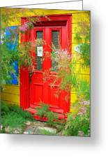 Colorful Entrance ... Greeting Card