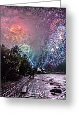 Colorful Explosions Greeting Card