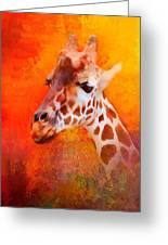 Colorful Expressions Giraffe Greeting Card