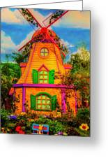 Colorful Fantasy Windmill Greeting Card