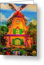 Colorful Fantasy Windmill Greeting Card
