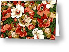 Colorful Floral Design Greeting Card