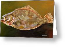 Colorful Flounder Greeting Card