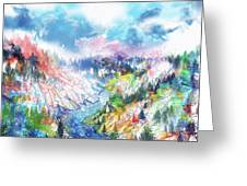Colorful Forest 5 Greeting Card