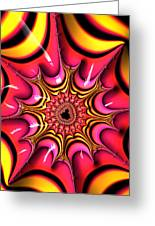 Colorful Fractal Art With Candy-colors Greeting Card