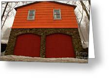 Colorful Garage Greeting Card