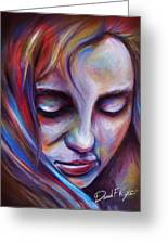 Colorful Girl Greeting Card