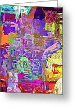 Colorful Glass Bottles Abstract Greeting Card