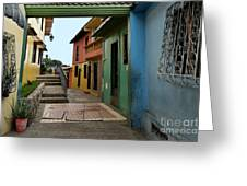 Colorful Guayaquil Alley Greeting Card