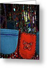 Colorful Hanging Pouches Greeting Card