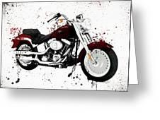 Colorful Harley Davidson Paint Splatter Greeting Card