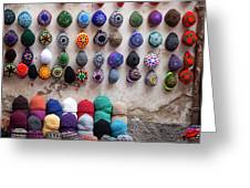 Colorful Hats Greeting Card