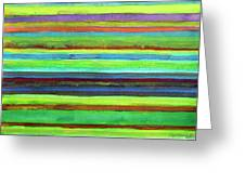 Colorful Horizontal Stripes Greeting Card