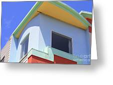 Colorful House In San Francisco Greeting Card