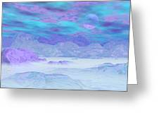Colorful Icebergs - 3d Render Greeting Card