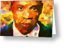 Colorful Jay Z Palette Knife Greeting Card