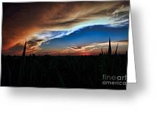Kansas - Land Of Beautiful Sunsets Greeting Card