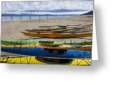 Colorful Kayaks Greeting Card