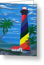 Colorful Lighthouse Greeting Card