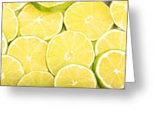 Colorful Limes Greeting Card